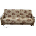 """Диван-кровать """"Классик"""" - с деревянными подлокотниками - Велюр"""