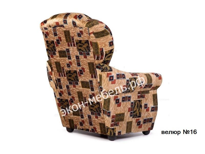 """Кресло """"Классик"""" с мягкими подлокотниками - Велюр"""