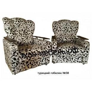 """Кресло """"Классик"""" с деревянными подлокотниками - Турецкий гобелен"""