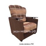 """Кресло """"Классик"""" с деревянными подлокотниками - шенилл"""