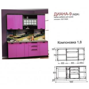ДИАНА-9 (1,8м) со столешницей