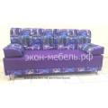 Диван-кровать Еврокнижка 1 с формовочными подушками - Микровелюр