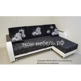 """Диван-кровать """"Угловой -1"""" (турецкий гобелен, рогожка)"""